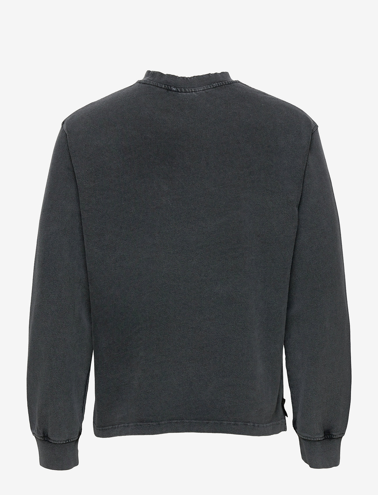 HAN Kjøbenhavn - Distressed Tee Long Sleeve - basic t-shirts - distressed dark grey - 1