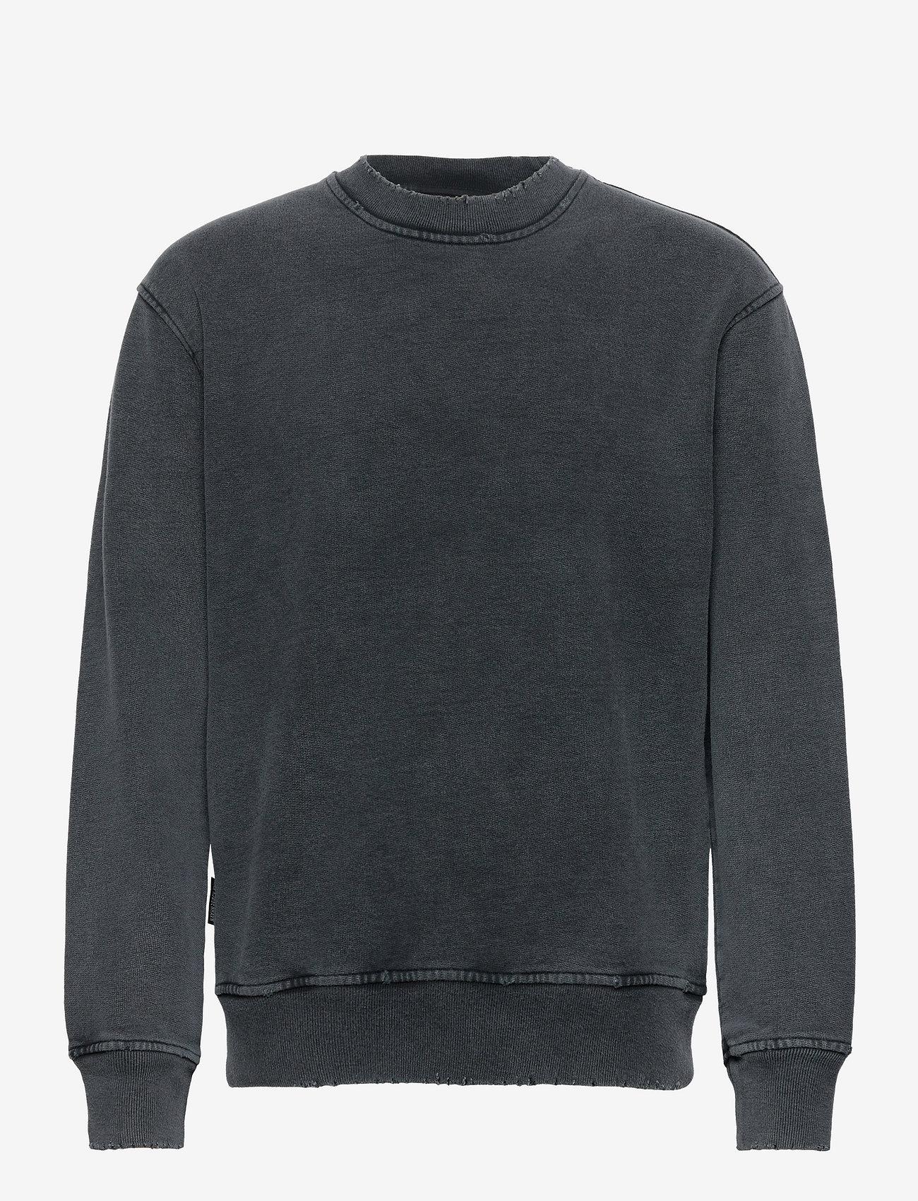 HAN Kjøbenhavn - Distressed Crew - truien - distressed dark grey - 0