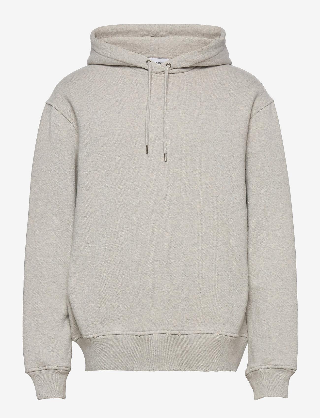 HAN Kjøbenhavn - Distressed Hoodie - hoodies - distressed grey melange - 0