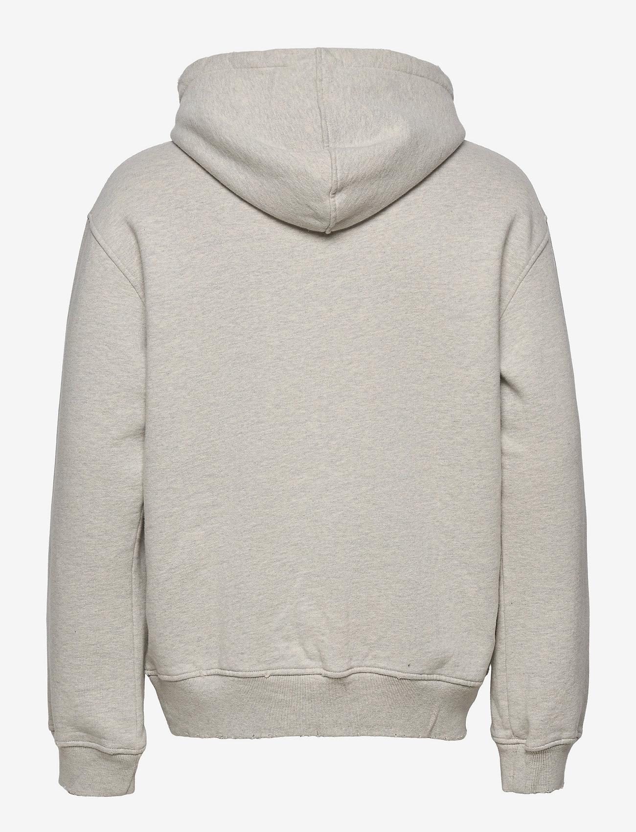 HAN Kjøbenhavn - Distressed Hoodie - hoodies - distressed grey melange - 1