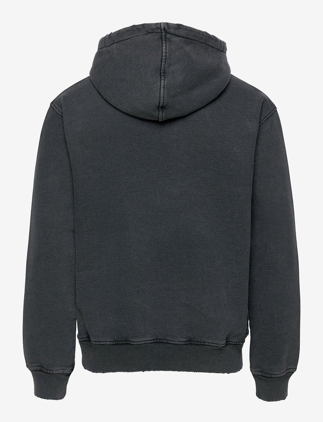 HAN Kjøbenhavn - Distressed Hoodie - hoodies - distressed dark grey - 1