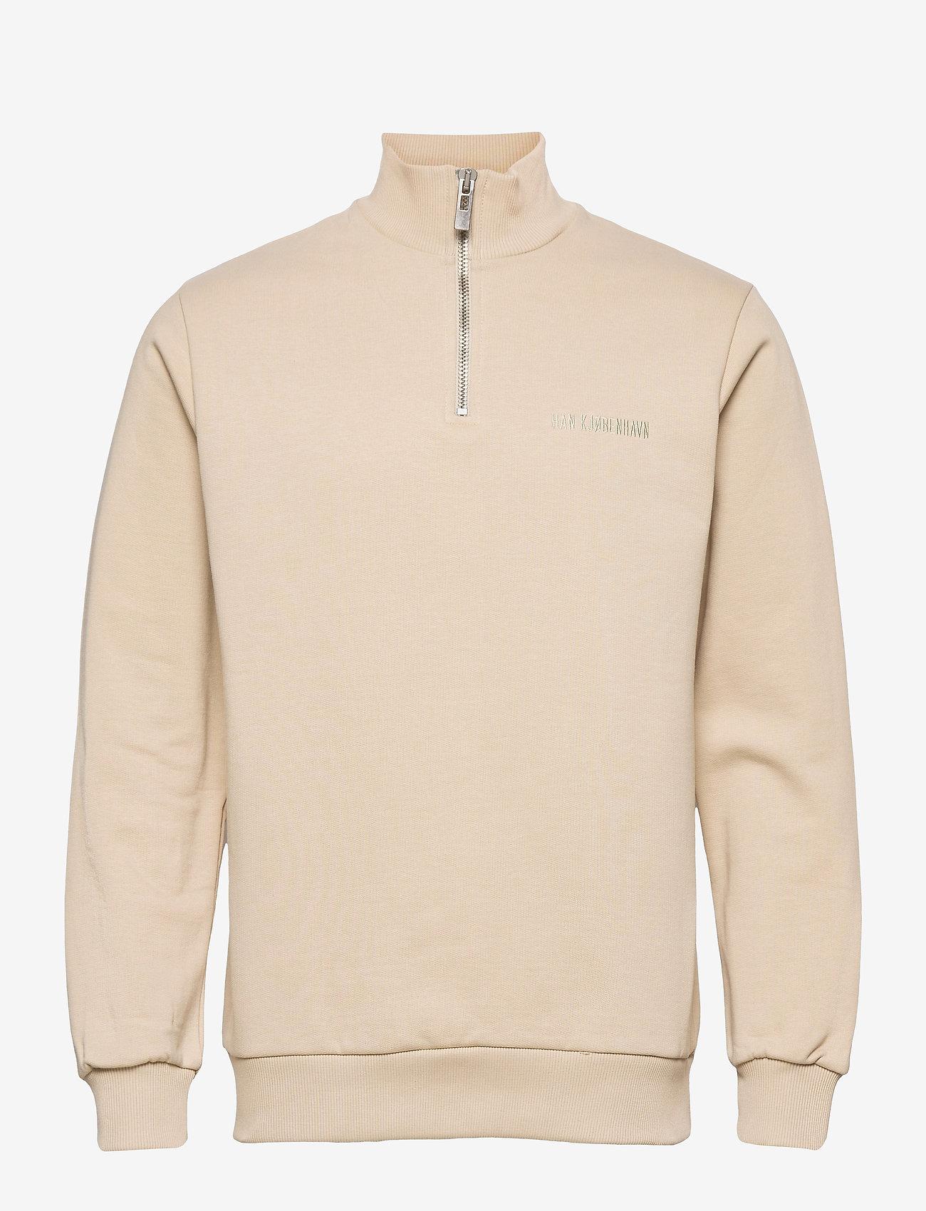 HAN Kjøbenhavn - Half Zip Sweat - basic sweatshirts - sand - 0