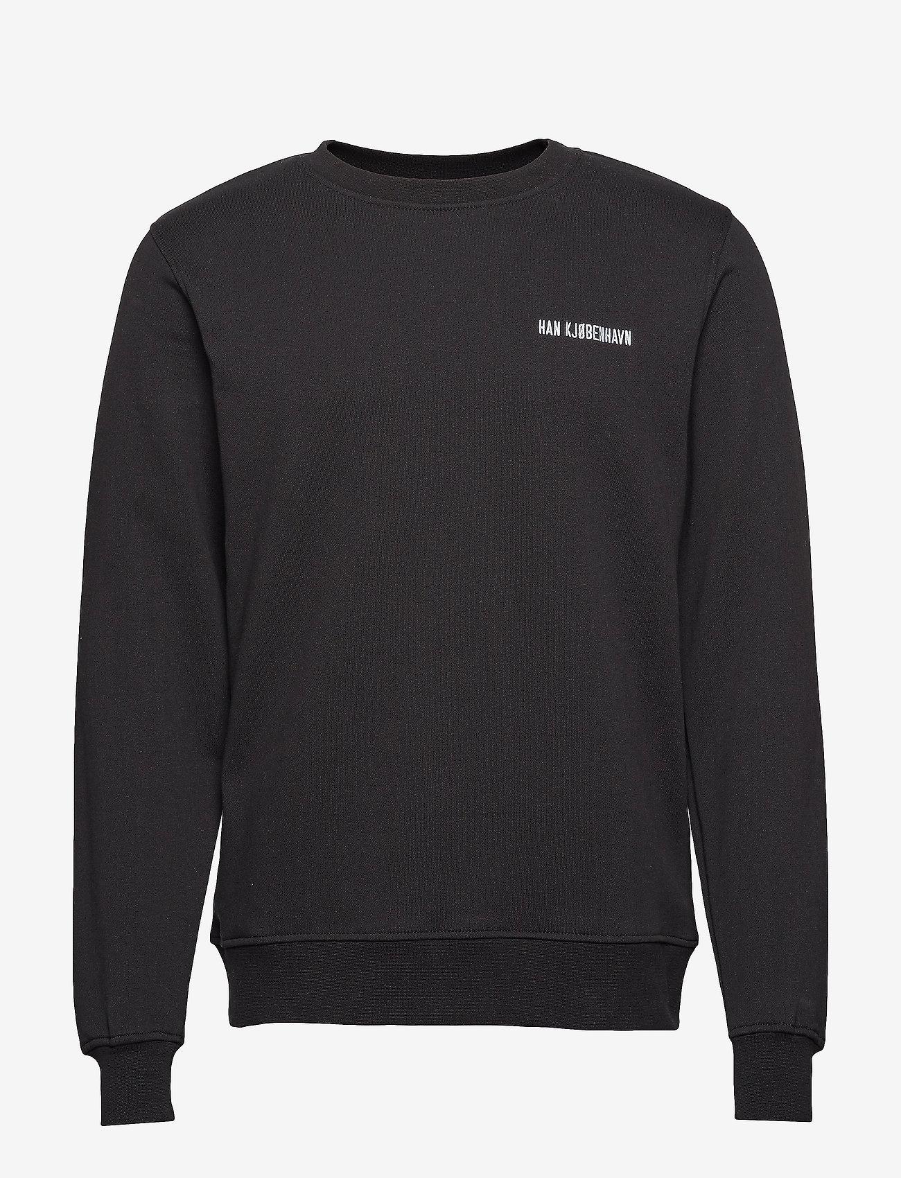 HAN Kjøbenhavn Casual Crew - Sweatshirts BLACK - Menn Klær