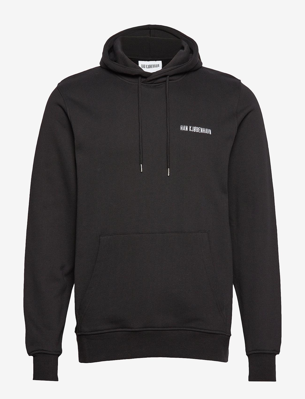 HAN Kjøbenhavn - Casual Hoodie - hoodies - black - 0