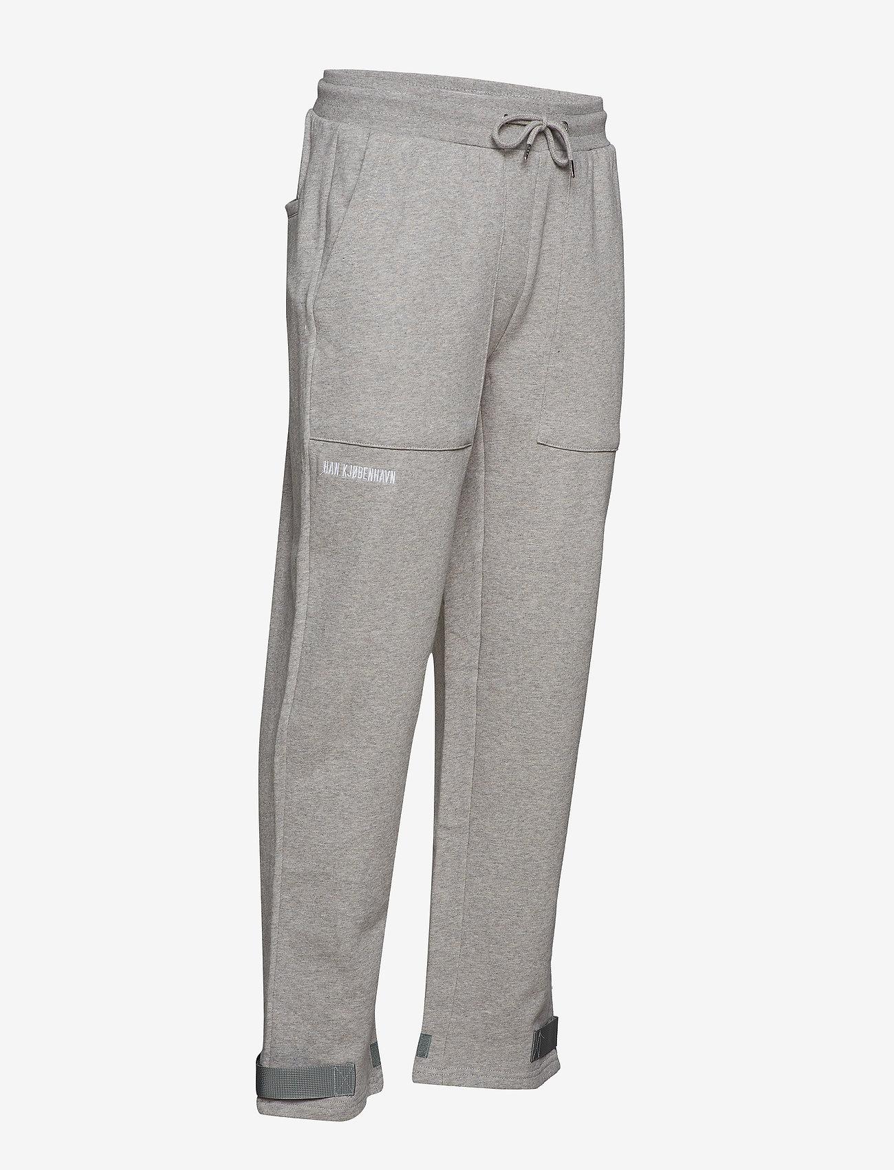 HAN Kjøbenhavn - Sweat Pants - kleding - grey logo - 4
