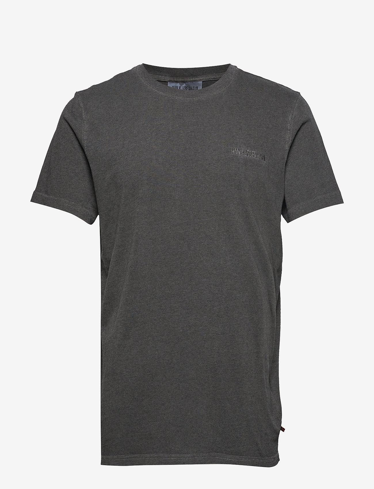 HAN Kjøbenhavn - Casual Tee - basic t-shirts - dark grey - 1