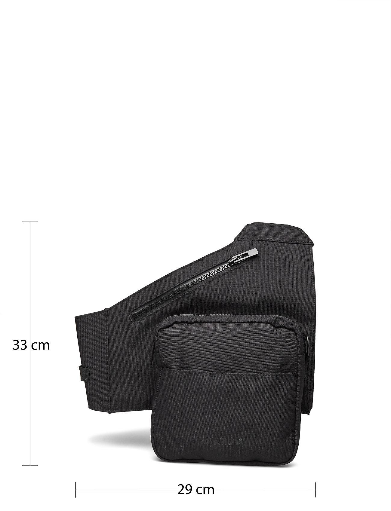 HAN Kjøbenhavn - Triangle Bag - heuptassen - black cordura nylon - 4
