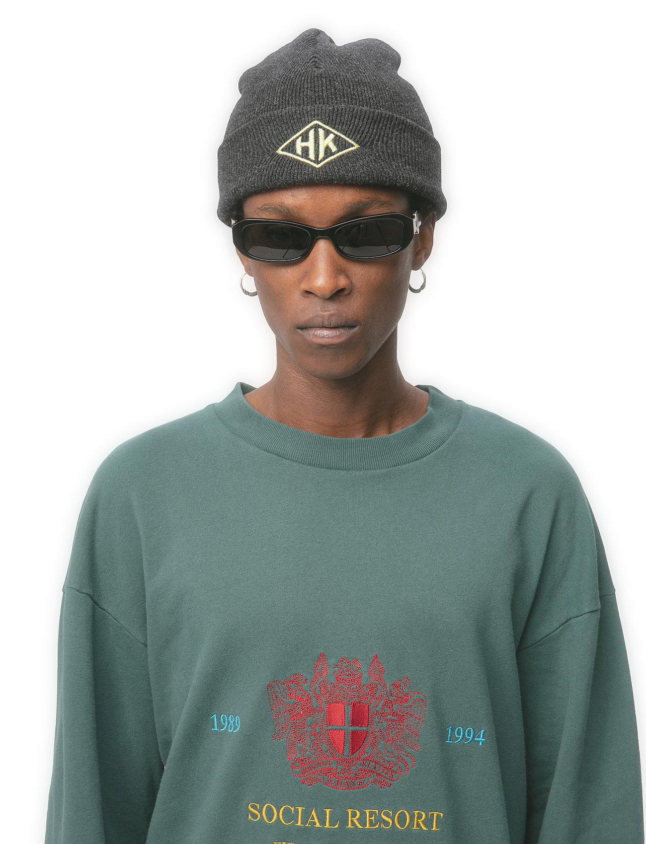 HAN Kjøbenhavn - Top Beanie - bonnets & casquettes - black melange - 0