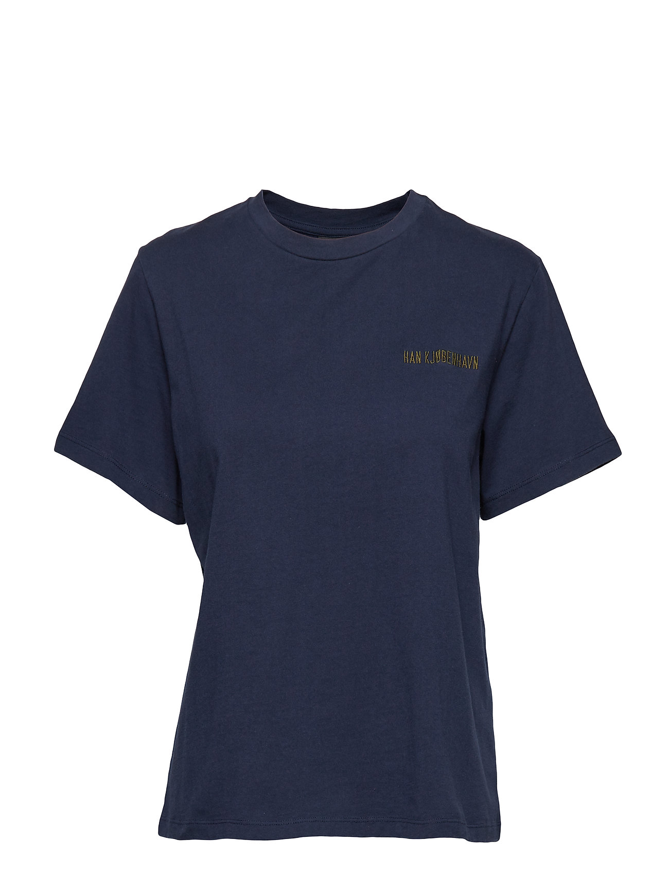 Artwork Tee T shirt Top Blå HAN KJØBENHAVN