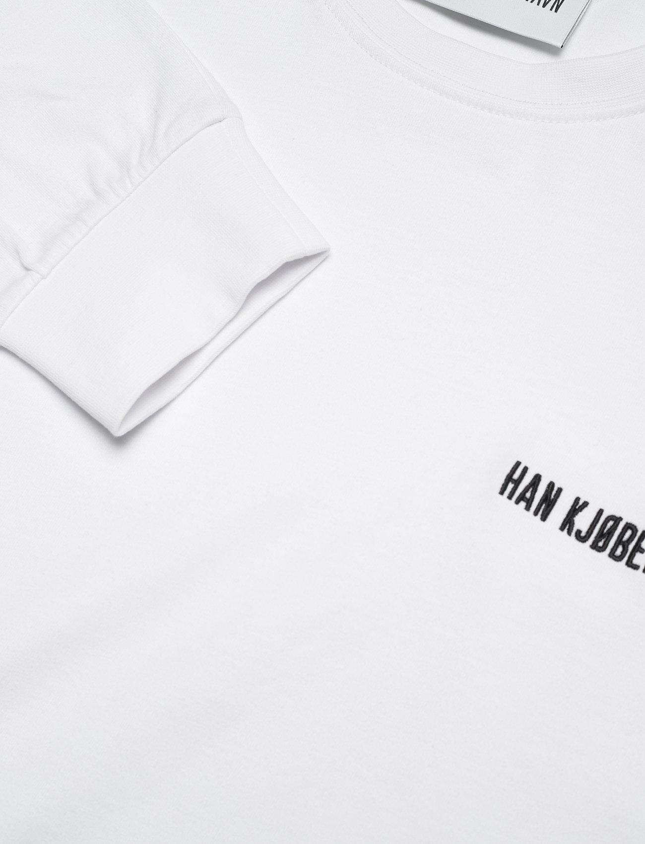 HAN Kjøbenhavn - Casual Long Sleeve Tee - basic t-shirts - white logo - 2