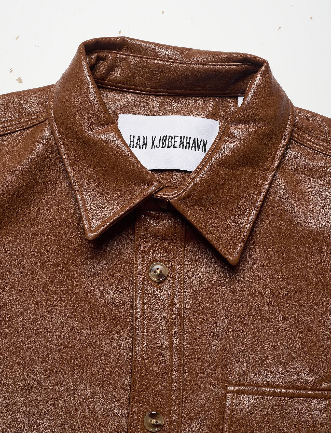 HAN Kjøbenhavn - Army Shirt - tops - brown faux leather - 4