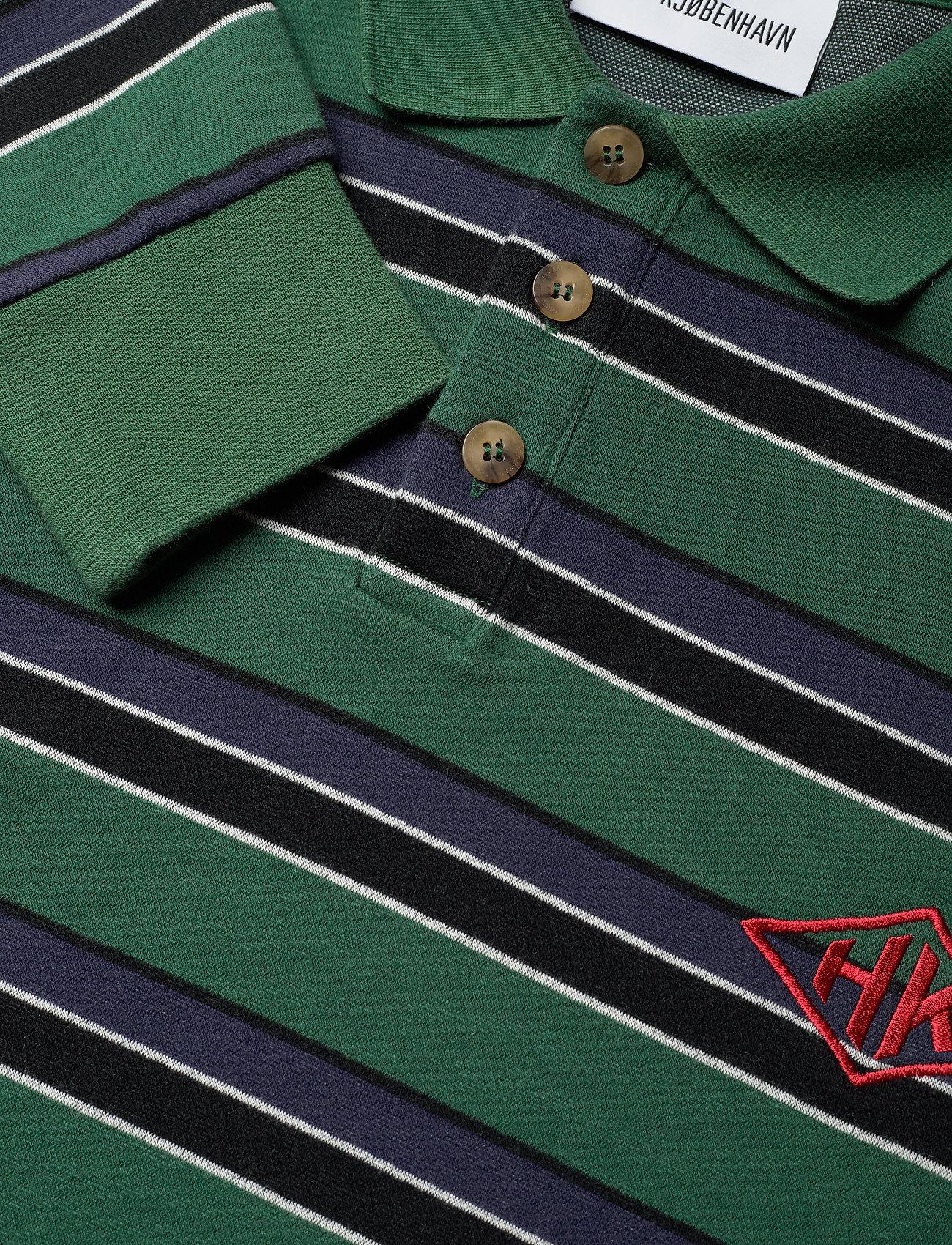 HAN Kjøbenhavn - Polo Tee Long Sleeve - lange mouwen - multicolor green - 2