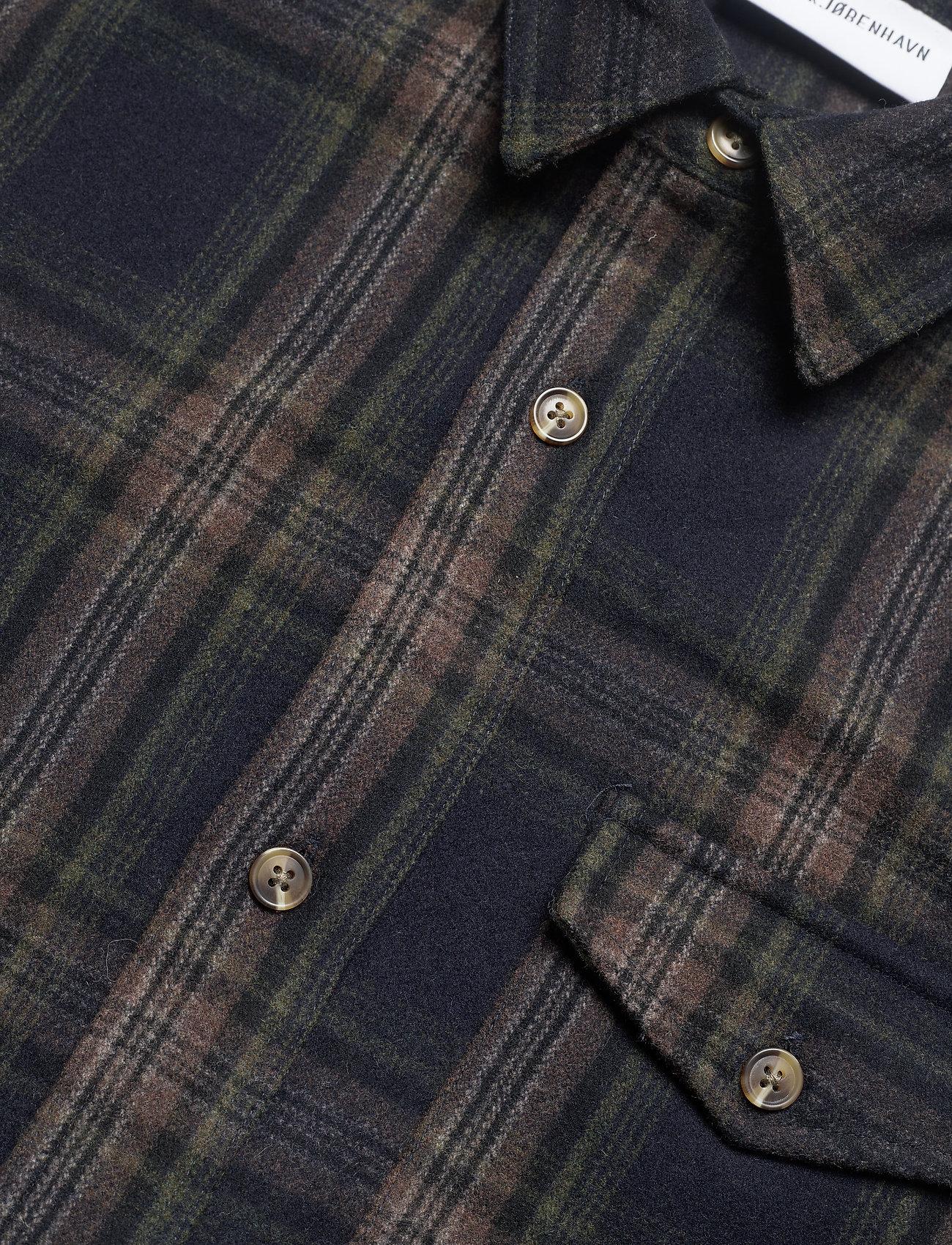 HAN Kjøbenhavn Army Shirt - Jakker og frakker DARK CHECK - Menn Klær