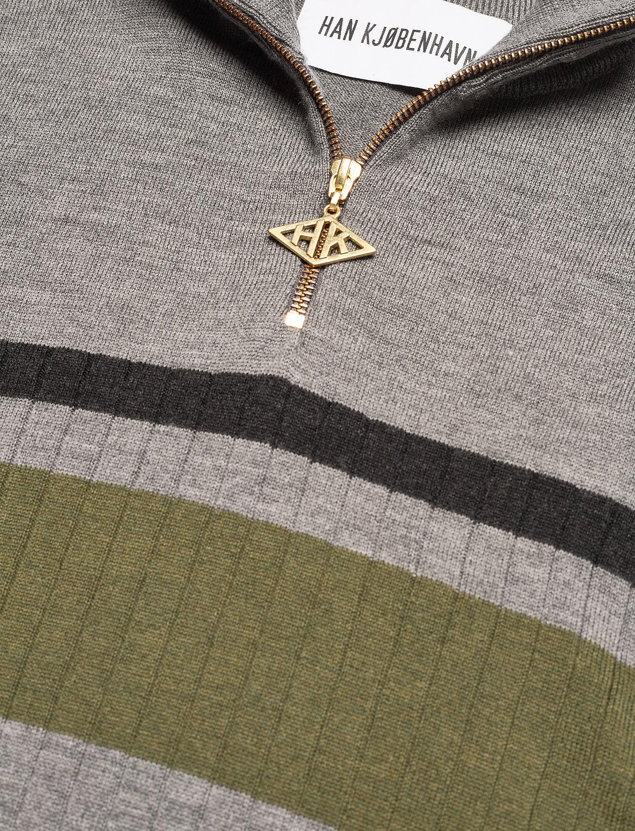 HAN Kjøbenhavn - Half Zip Long Sleeve - truien met halve rits - grey - 2