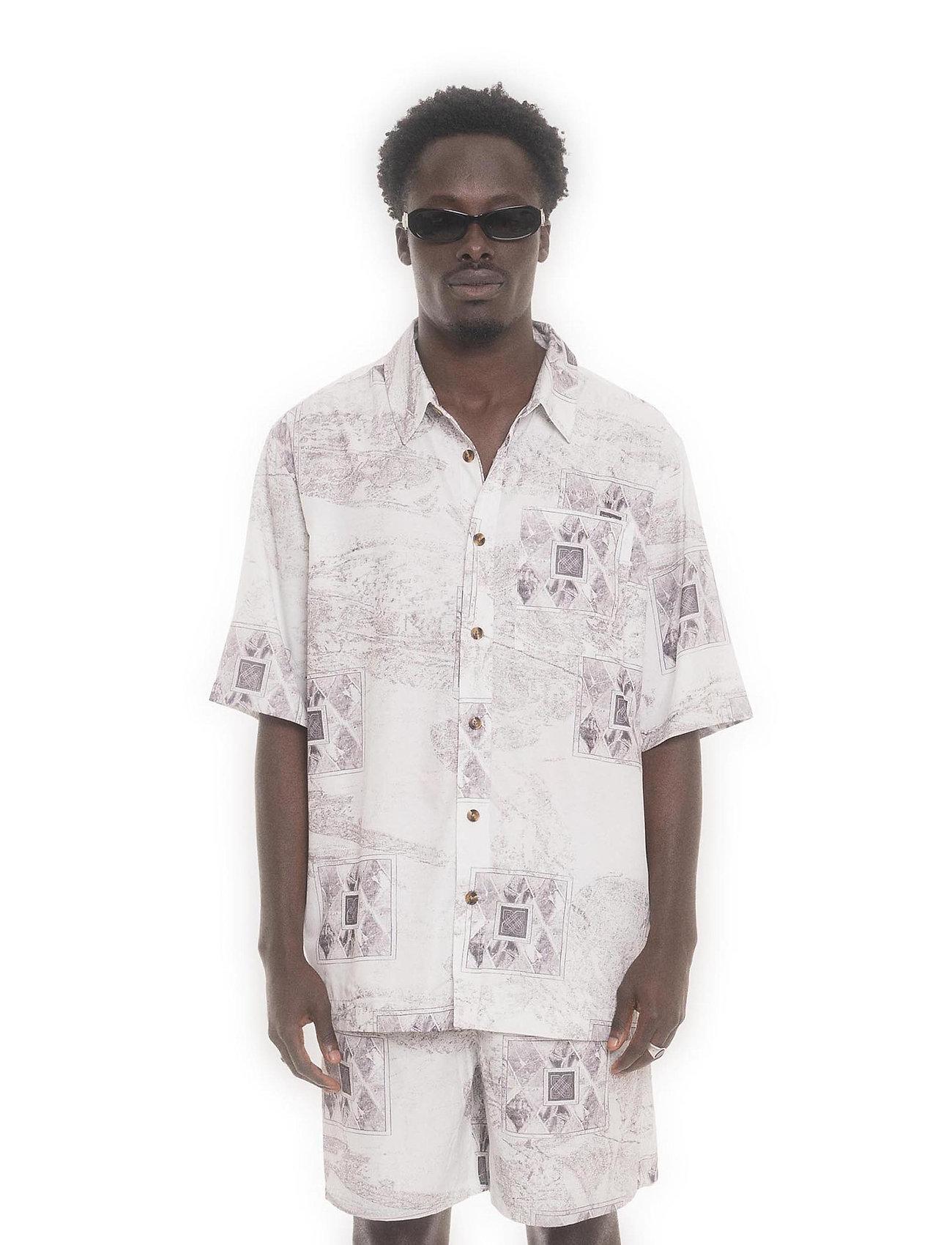 HAN Kjøbenhavn - Boxy Shirt SS - overhemden korte mouwen - bleach diamond - 0