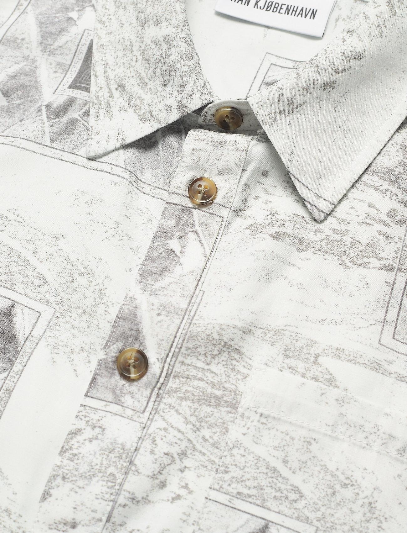 HAN Kjøbenhavn - Boxy Shirt SS - overhemden korte mouwen - bleach diamond - 6