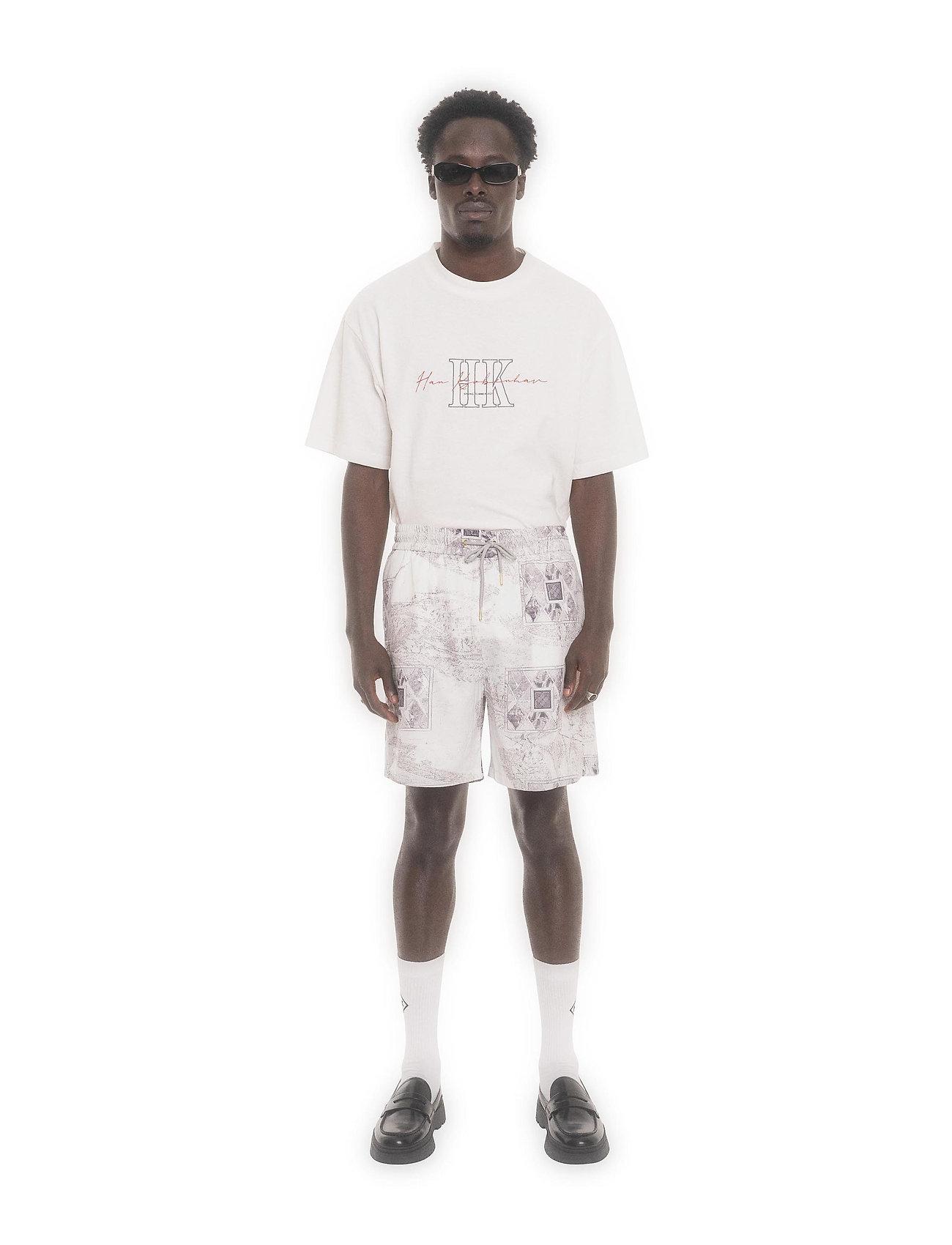 HAN Kjøbenhavn - Track Shorts - casual shorts - bleach diamond - 0