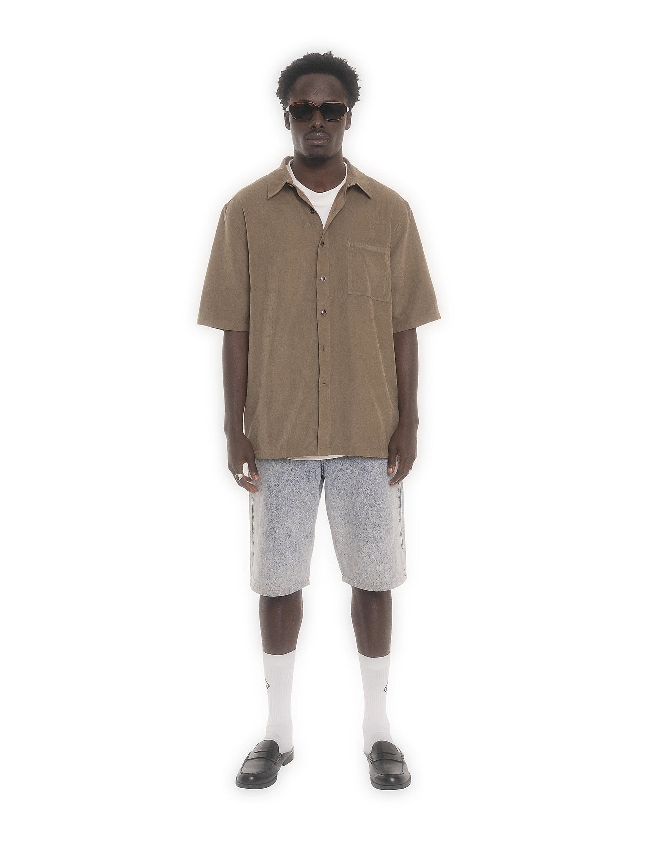 HAN Kjøbenhavn - Boxy Shirt SS - basic overhemden - grey - 3