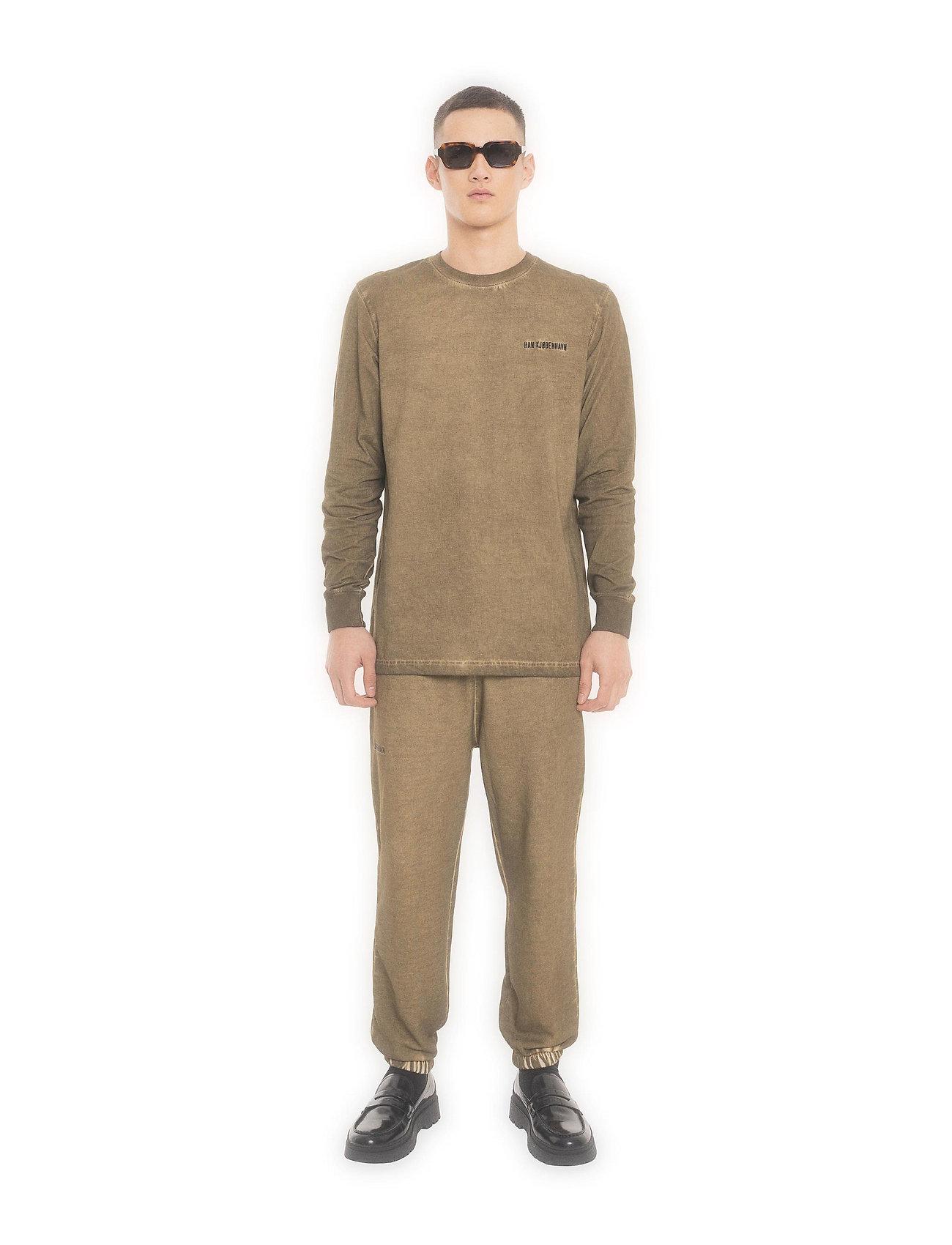 HAN Kjøbenhavn - Casual Long Sleeve Tee - basic t-shirts - green crush - 0