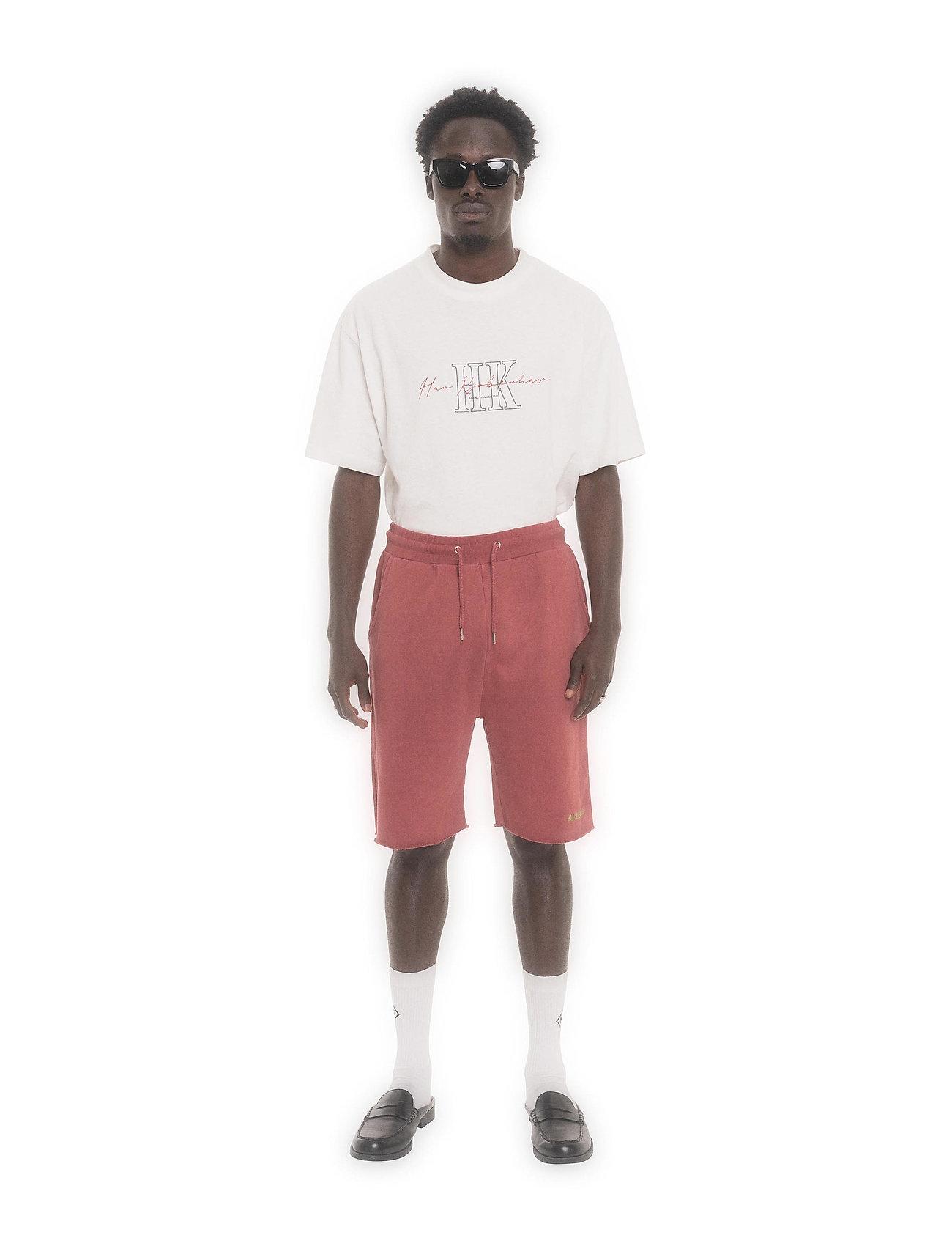 HAN Kjøbenhavn - Sweat Shorts - casual shorts - faded dark red - 0