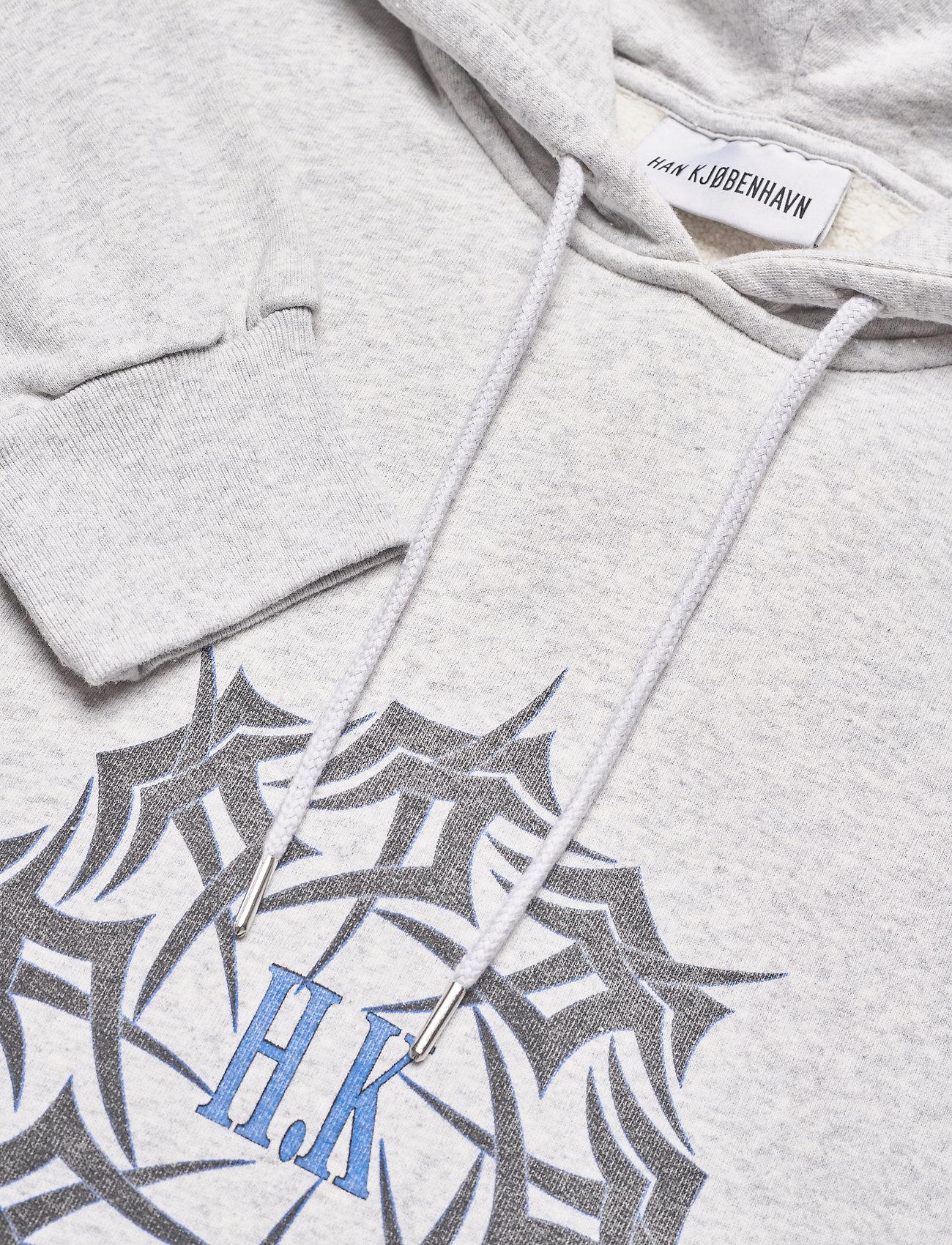 HAN Kjøbenhavn - Artwork Hoodie - hoodies - grey melange - 2