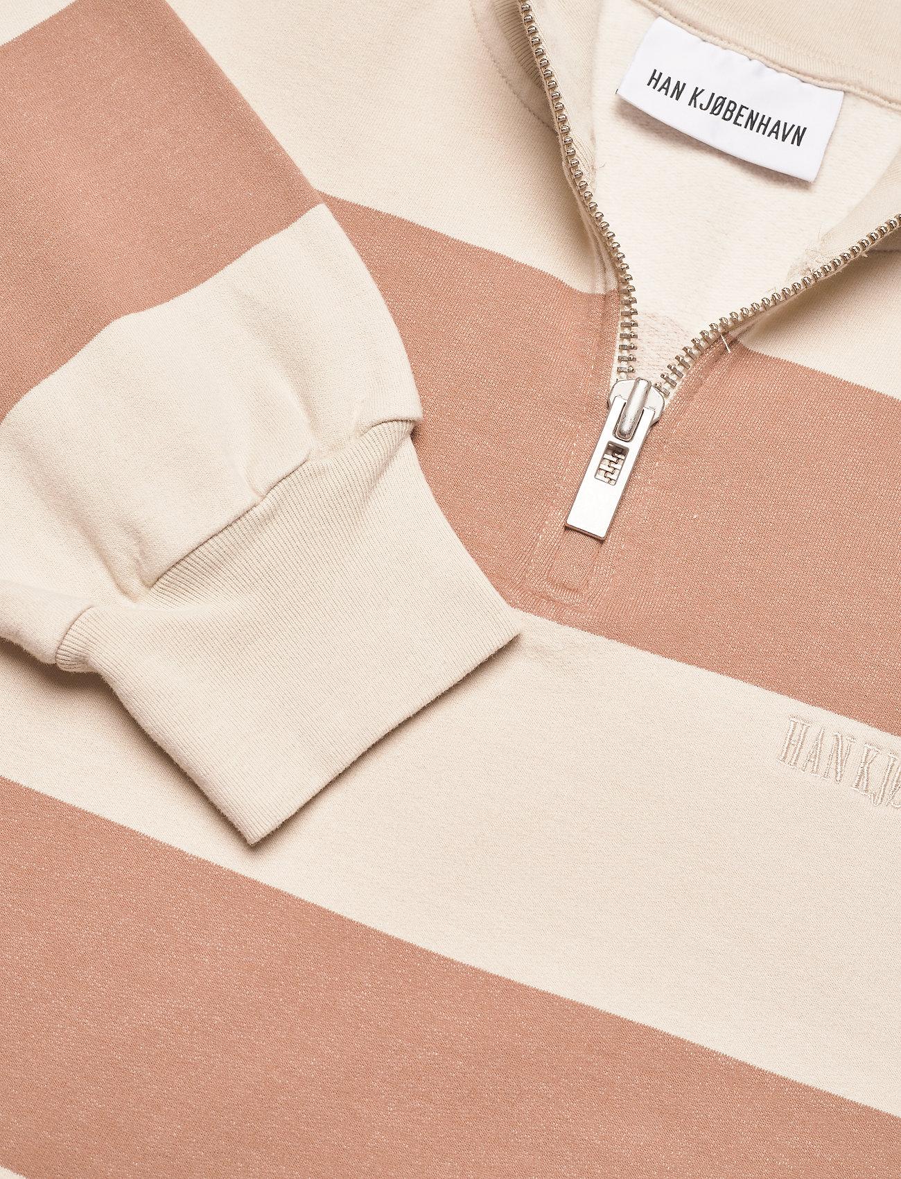 HAN Kjøbenhavn - Half Zip Sweat - truien - off white stripe - 2