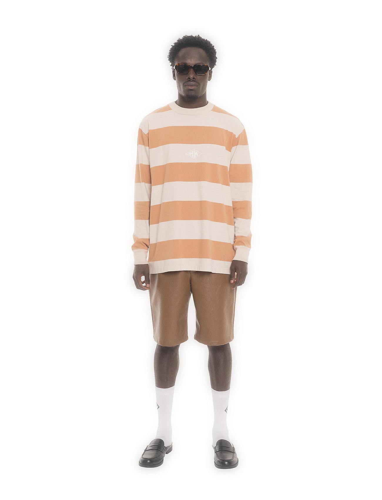 HAN Kjøbenhavn - Boxy Tee Long Sleeve - lange mouwen - off white stripe - 3