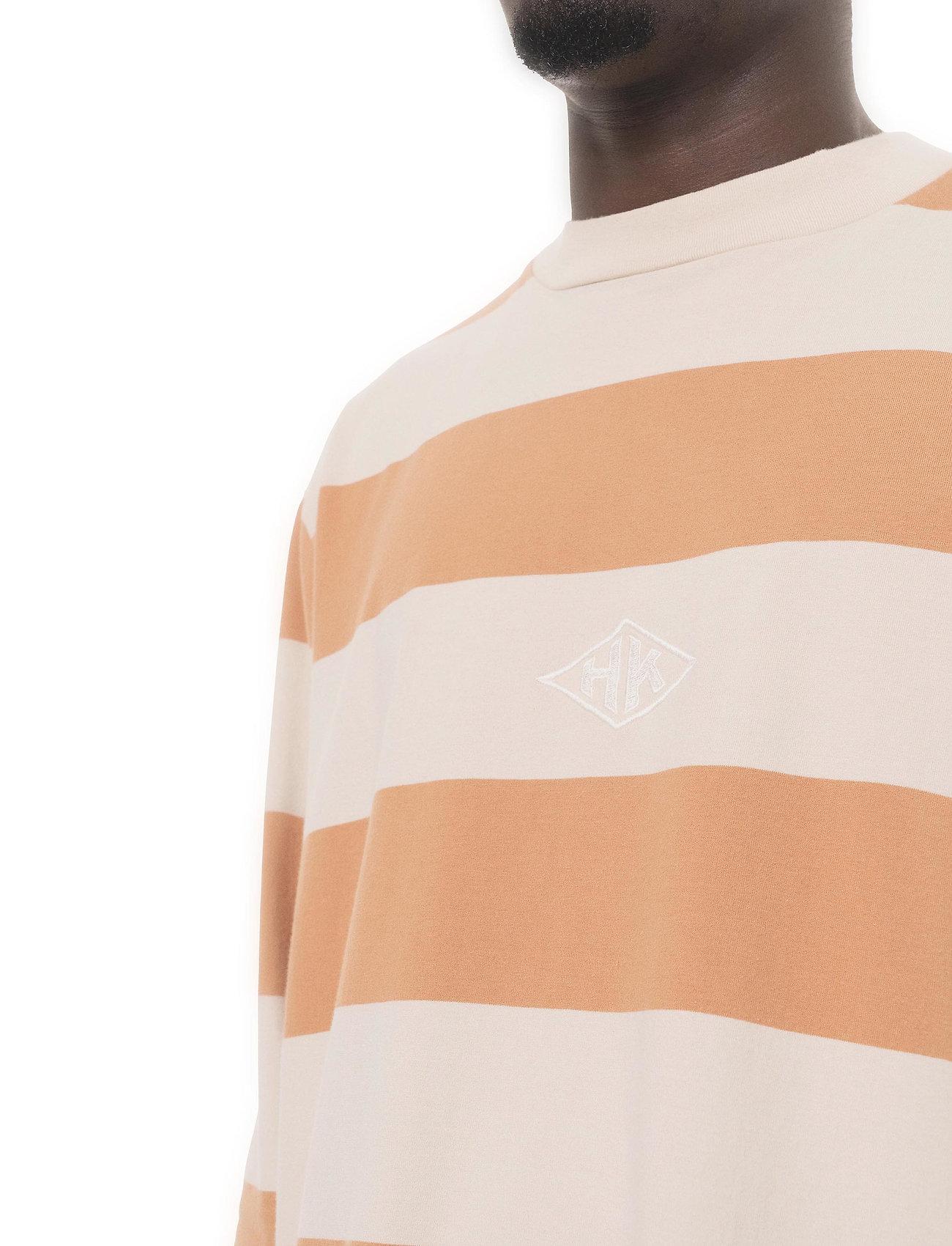 HAN Kjøbenhavn - Boxy Tee Long Sleeve - lange mouwen - off white stripe - 4