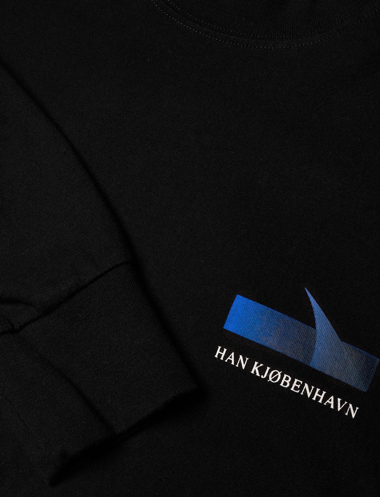 HAN Kjøbenhavn - Boxy LS Tee - basic t-shirts - faded black - 3