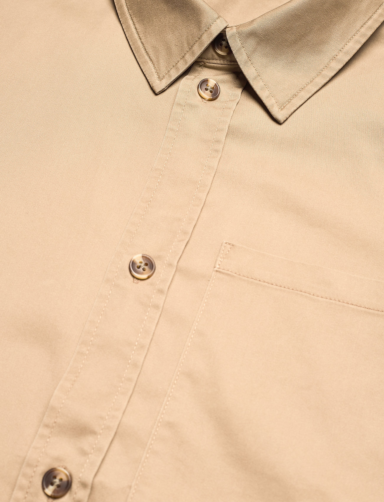 HAN Kjøbenhavn - Boxy Shirt SS - oxford overhemden - olive grey - 4