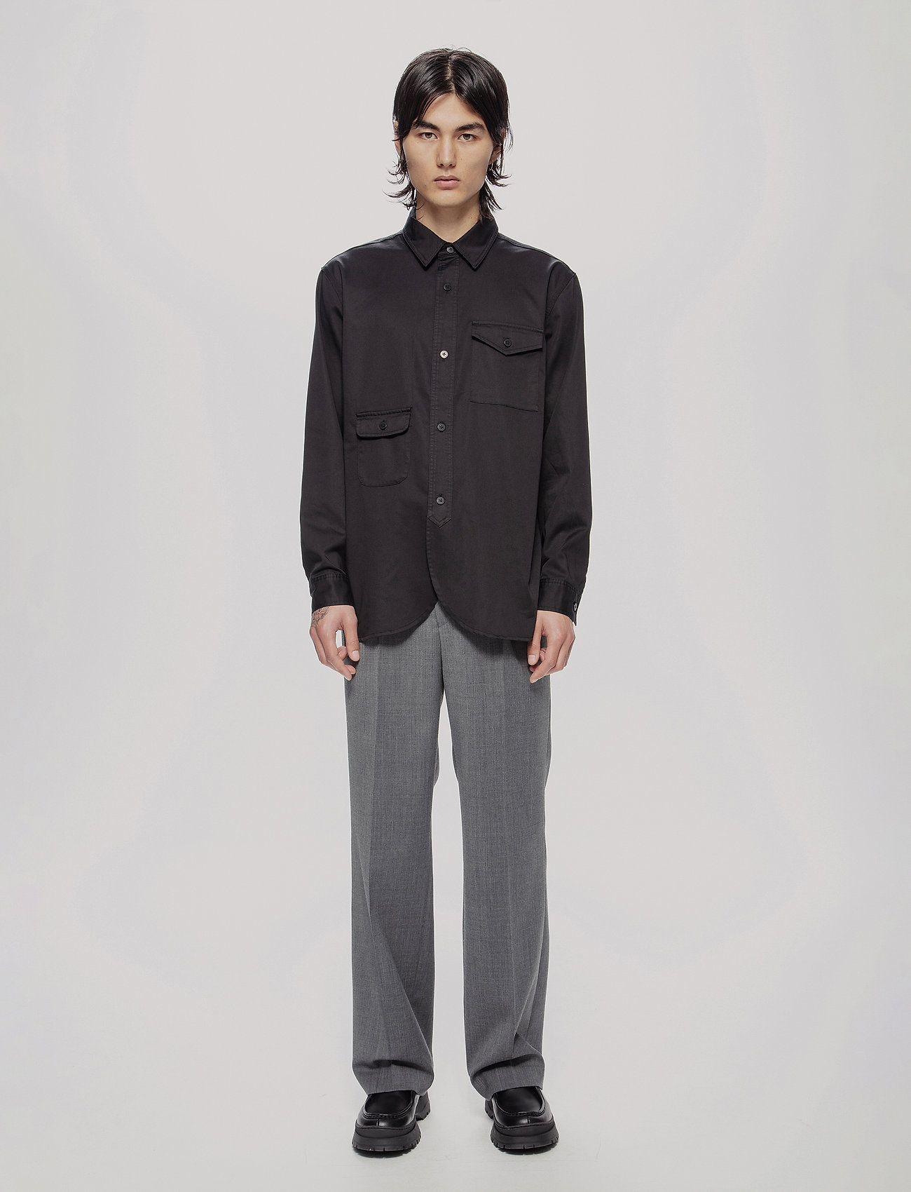 HAN Kjøbenhavn - Army Shirt - oxford overhemden - black - 0