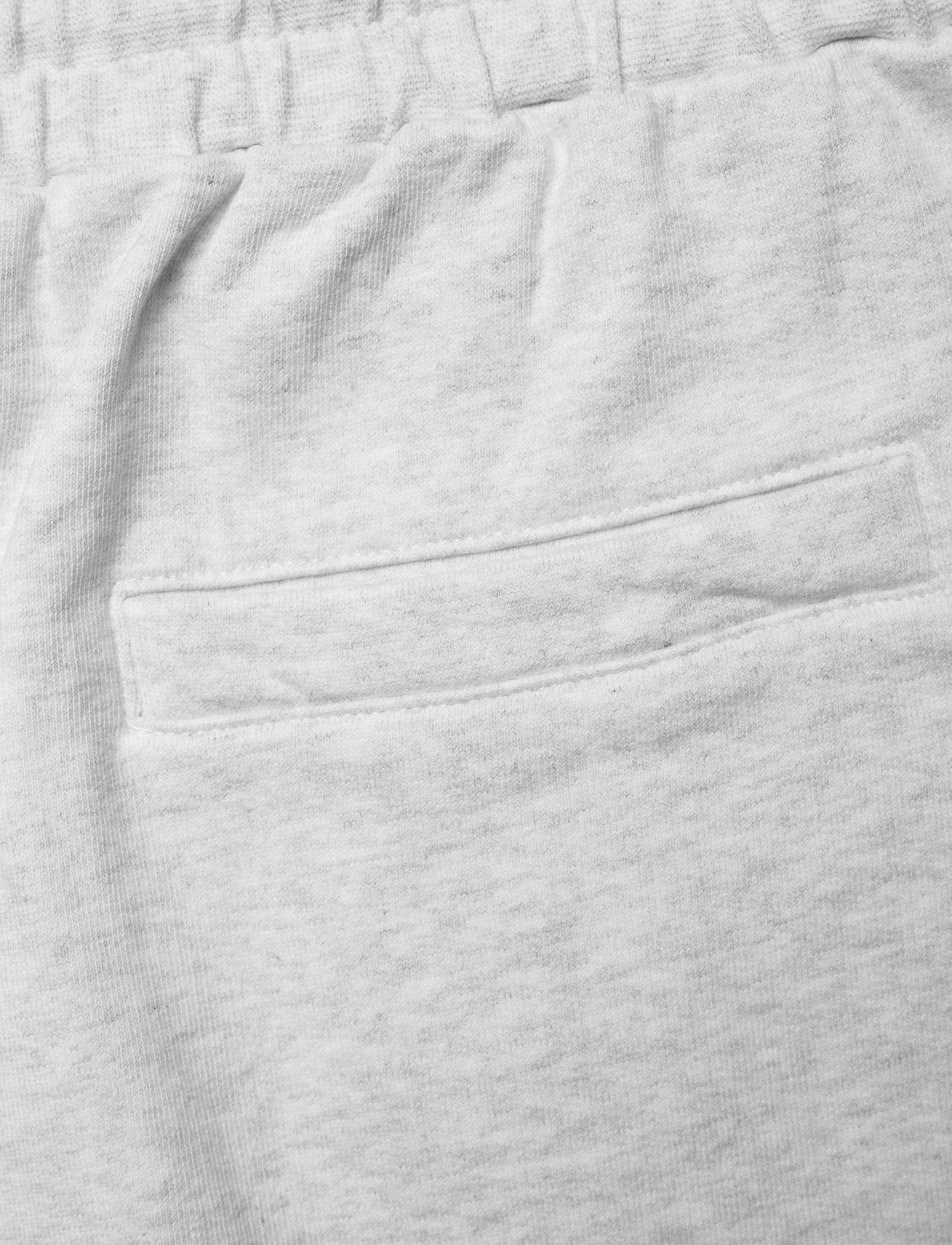 HAN Kjøbenhavn - Sweat shorts - casual shorts - light grey melange logo - 4