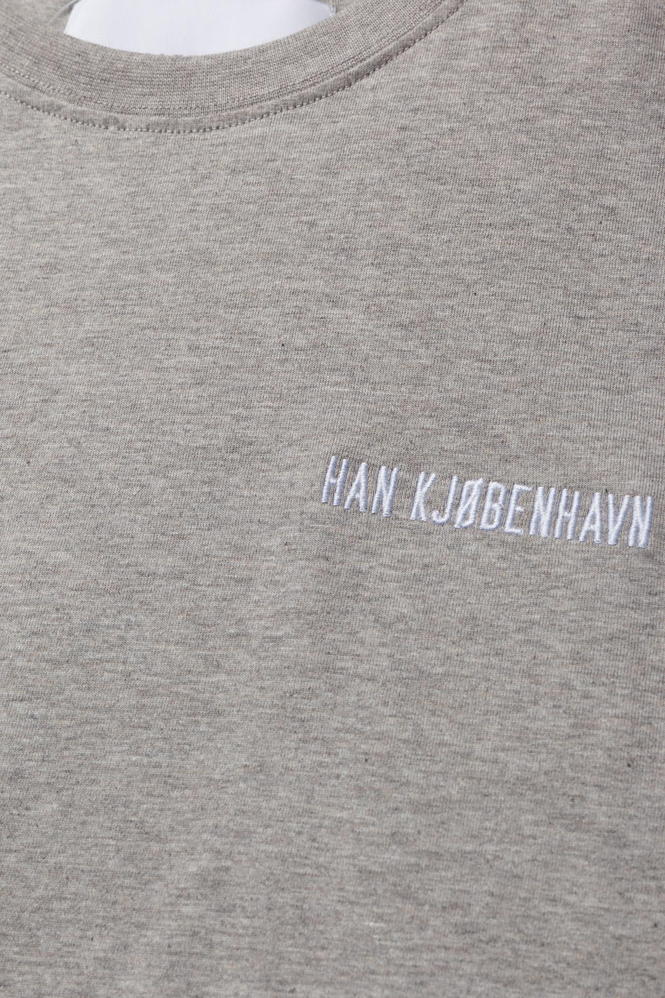 HAN Kjøbenhavn - Casual Tee - korte mouwen - grey melange - 3