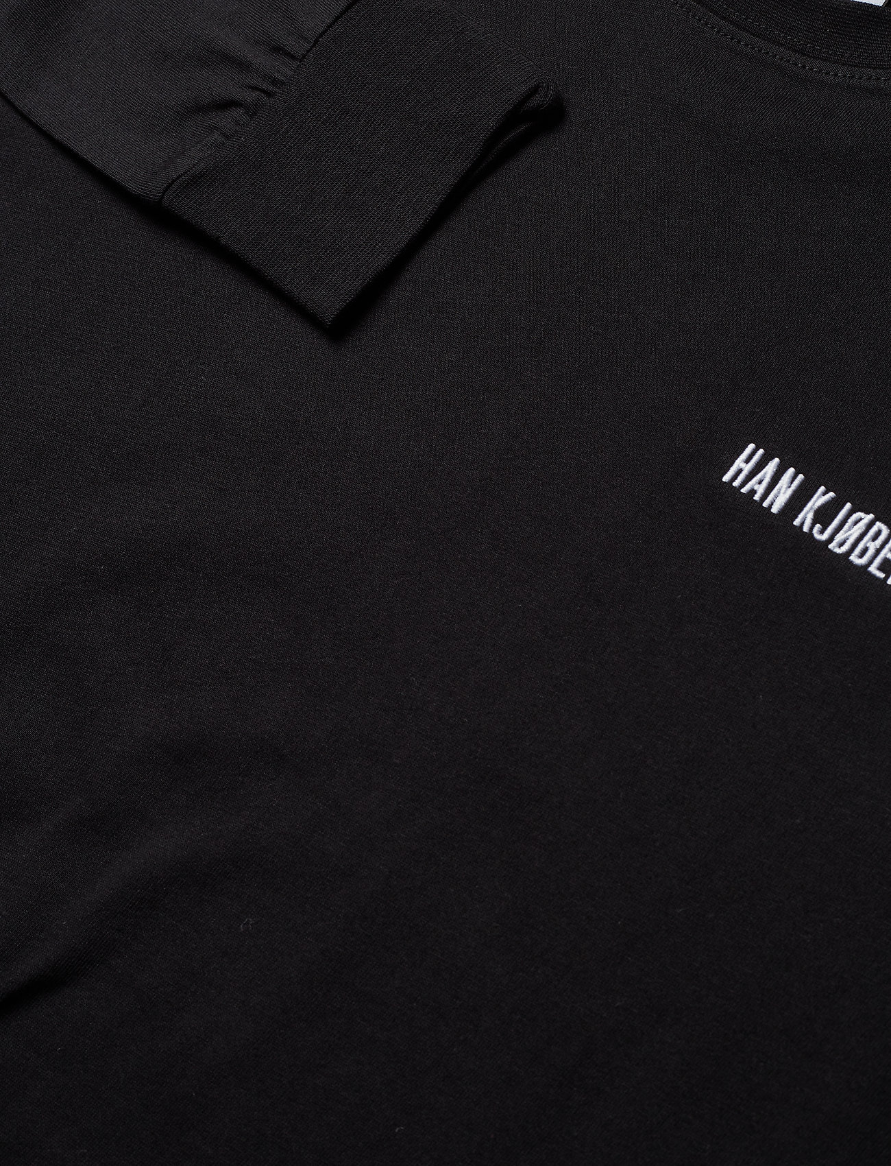 HAN Kjøbenhavn - Casual Long Sleeve Tee - basic t-shirts - black logo - 4