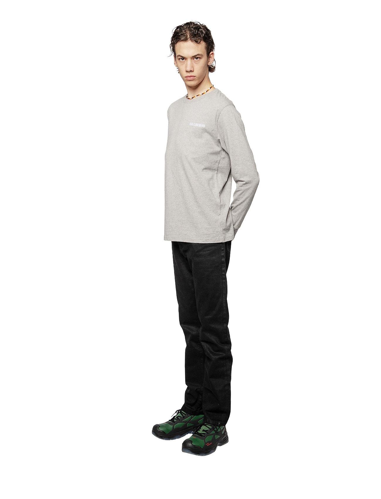 HAN Kjøbenhavn - Casual Long Sleeve Tee - basic t-shirts - grey logo - 3