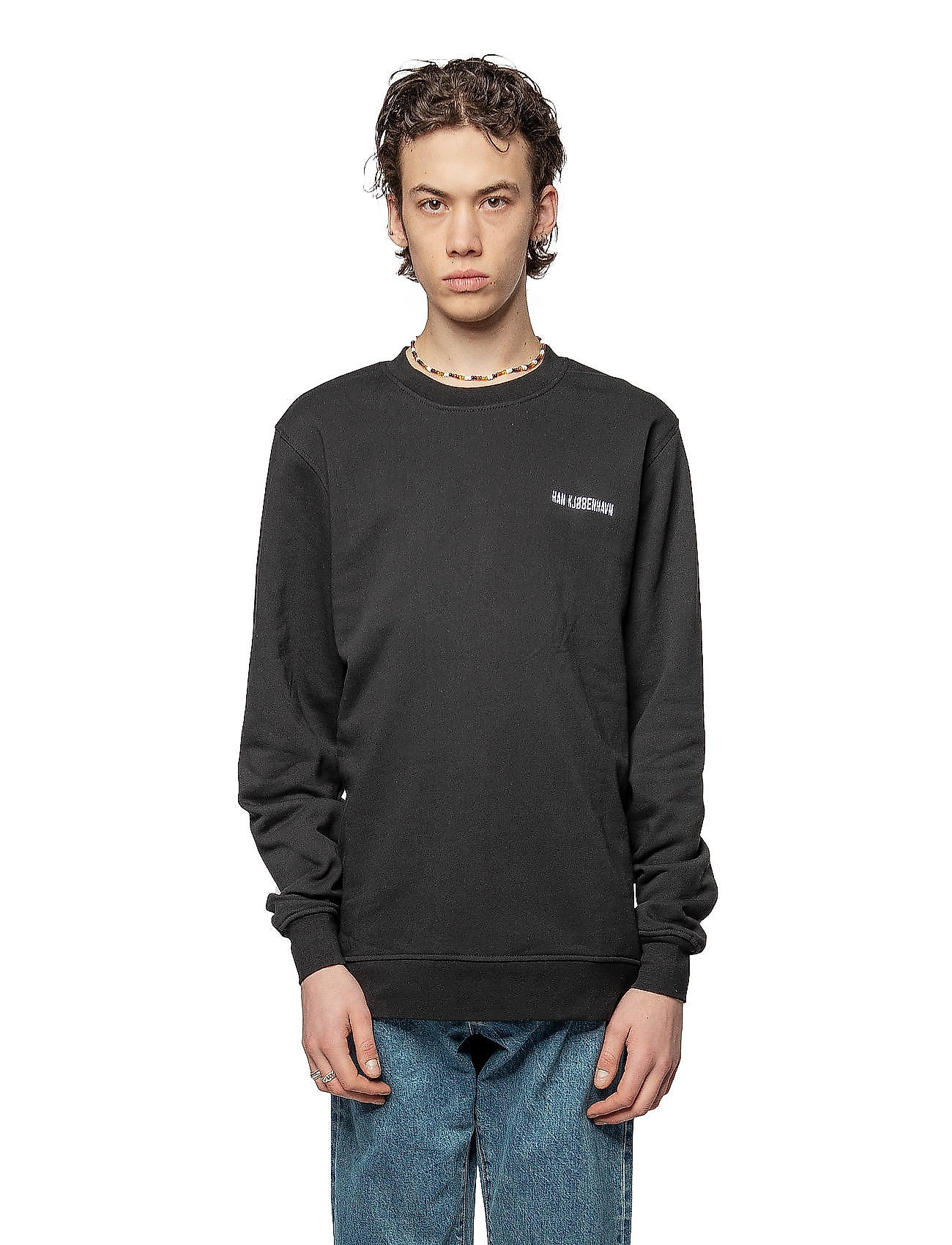 HAN Kjøbenhavn - Casual Crew - basic sweatshirts - black - 0