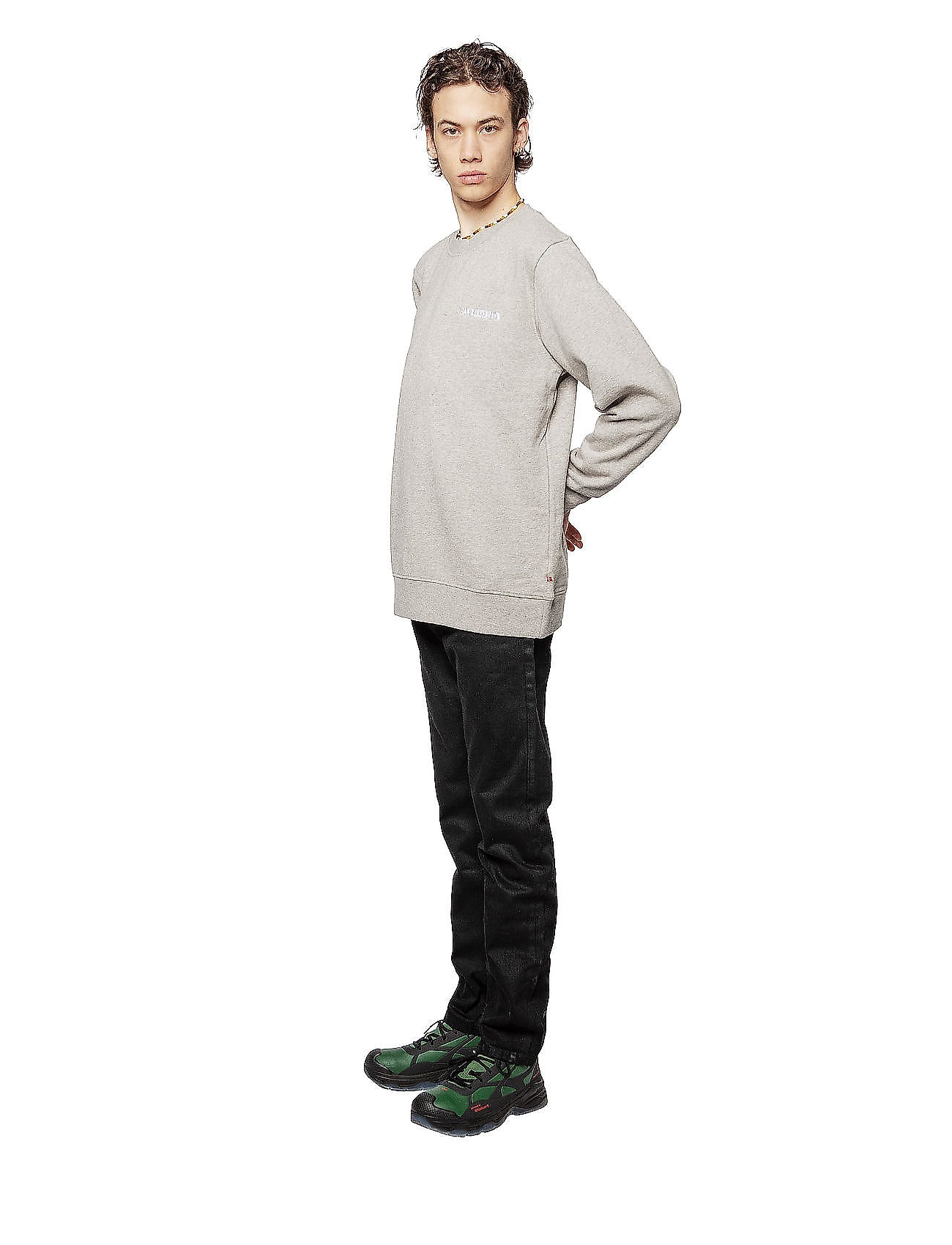 HAN Kjøbenhavn Casual Crew - Sweatshirts GREY LOGO - Menn Klær