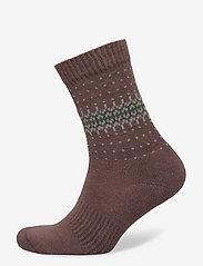 HAN Kjøbenhavn - Socks - enkelsokken - faded brown - 0