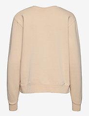 HAN Kjøbenhavn - Bulky Crew - sweatshirts - beige logo - 1