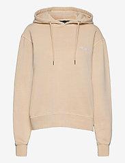 HAN Kjøbenhavn - Bulky Hoodie - hoodies - beige logo - 0