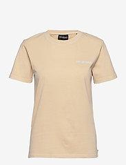 HAN Kjøbenhavn - Casual Tee - t-shirts - beige logo - 0