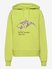 HAN Kjøbenhavn - Bulky Hoodie - hoodies - faded lime - 0