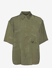 HAN Kjøbenhavn - Drop Shirt - kortärmade skjortor - green tribal - 0