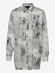 HAN Kjøbenhavn - Boyfriend Shirt - långärmade skjortor - bleach diamond - 0