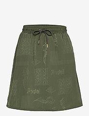 HAN Kjøbenhavn - Track Skirt - korta kjolar - green tribal - 0