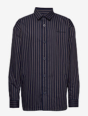 HAN Kjøbenhavn - Shirt Jacket - tops - navy stripe - 0