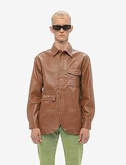 HAN Kjøbenhavn - Army Shirt - tops - brown faux leather - 0