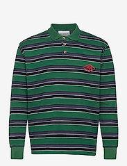 HAN Kjøbenhavn - Polo Tee Long Sleeve - lange mouwen - multicolor green - 0