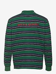 HAN Kjøbenhavn - Polo Tee Long Sleeve - lange mouwen - multicolor green - 1