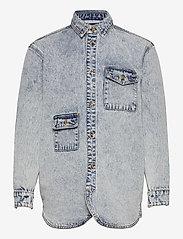 HAN Kjøbenhavn - Army Shirt - tops - grey - 1
